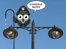 Conserve el mensaje del agua foto de archivo libre de regalías