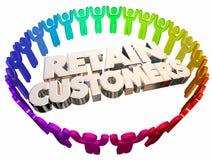 Conserve el velocímetro de la retención de empleados de los clientes stock de ilustración