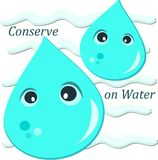 Conserve en el agua ilustración del vector