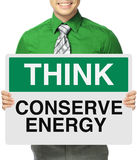 Conserve a energia Foto de Stock Royalty Free