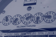 Conserve Energy. Closeup of a power meter Royalty Free Stock Images
