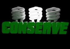 Conserve Energy logo Stock Photography