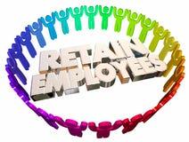 Conserve a los empleados guardan el control sobre gente de los trabajadores ilustración del vector
