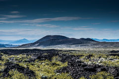 Conserve nationale Lava Beds de Mojave Images libres de droits