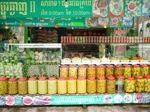 Conserve, preserve la tienda en Siem Reap imagen de archivo