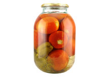 Conserve tomatoes Stock Photography