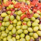 conserves au vinaigre d'olives Photographie stock