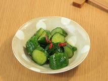 Conserves au vinaigre de concombre Photo stock