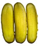 Conserves au vinaigre de concombre coupées en tranches Photographie stock libre de droits