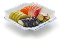 Conserves au vinaigre japonaises faites maison, tsukemono Photos libres de droits