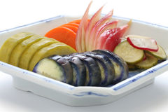 Conserves au vinaigre japonaises faites maison, tsukemono Images stock