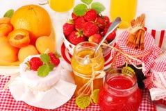 Conserves de fruits image libre de droits