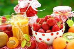 Conserves de fruits photos stock