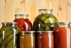 Conserves de légumes Photographie stock libre de droits