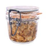 Conserves mis en bouteille de champignon Photo libre de droits