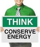 Conservez l'énergie photo libre de droits