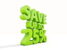Conservi fino a 25% Immagini Stock Libere da Diritti