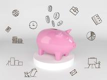 Conservi i vostri soldi, il concetto di tempo o la gestione finanziaria Fotografie Stock