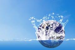 Conservi il concetto dell'acqua, il giorno dell'acqua del mondo Fotografia Stock