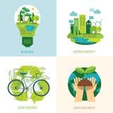 Conservi il concetto dell'energia pulita e del mondo Fotografia Stock Libera da Diritti