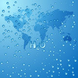 Conservi il fondo di concetto dell'acqua del mondo Immagine Stock