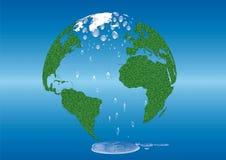 Conservi il globo dell'erba verde di riscaldamento globale della terra Fotografia Stock Libera da Diritti