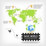 Conservi il mondo Immagini Stock Libere da Diritti