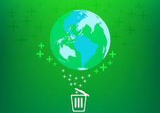 Conservi il mondo con il concetto del recipiente Immagine Stock