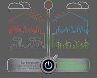 Conservi il mondo con il concetto dell'energia eolica Fotografia Stock Libera da Diritti