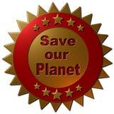 Conservi il nostro pianeta (guarnizione) Immagine Stock