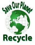 Conservi il nostro pianeta - ricicli Fotografie Stock Libere da Diritti