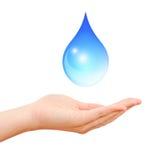 Conservi il simbolo dell'acqua Fotografia Stock