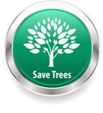 Conservi l'albero e conservi il fondo del distintivo della natura royalty illustrazione gratis