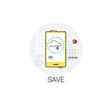 Conservi l'icona dello Smart Phone delle cellule di archiviazione di dati di App Immagini Stock Libere da Diritti