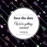 Conservi l'invito di nozze della data Immagini Stock