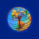 Conservi la terra illustrazione vettoriale