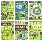 Conservi la terra, l'aria e la natura dell'ambiente royalty illustrazione gratis