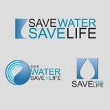 Conservi la vita di risparmi dell'acqua Immagini Stock