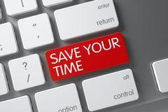 Conservi la vostra tastiera di tempo 3d Fotografia Stock Libera da Diritti