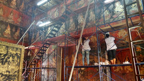 Conservstion and restoration of the  mural painting in pavillion Royalty Free Stock Photos
