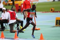 Conseslus Kipruto - победитель 3000 метров steepl стоковое фото
