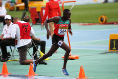 Conseslus Kipruto - gagnant de 3000 mètres de steepl Photo stock