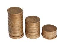 Considerable cantidad de copeckes de cobre Foto de archivo libre de regalías