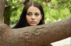 Consideravelmente adolescente ao ar livre Fotos de Stock