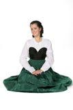 Consideravelmente adolescente no vestido medieval do estilo Foto de Stock Royalty Free