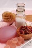 Consideravelmente nos termas cor-de-rosa (02) Imagens de Stock Royalty Free