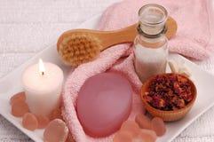 Consideravelmente nos termas cor-de-rosa (03) Fotos de Stock Royalty Free