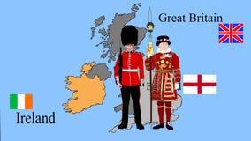 Considere el Reino Unido en el mapa almacen de metraje de vídeo