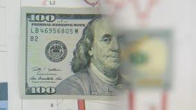 Considere un billete de banco de cientos dólares, un aumento con una lupa metrajes