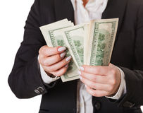 Considers money isolated Royalty Free Stock Images